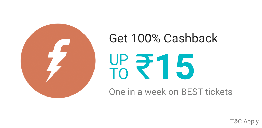 Freecharge offer on BEST Ticket